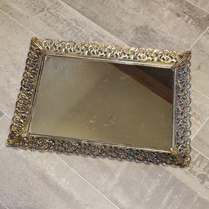 Vintage Gold Filgarie Table Mirror
